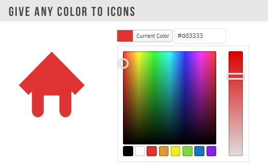 دادن هر گونه aa3333 COLOR ICONS کنونی رنگ
