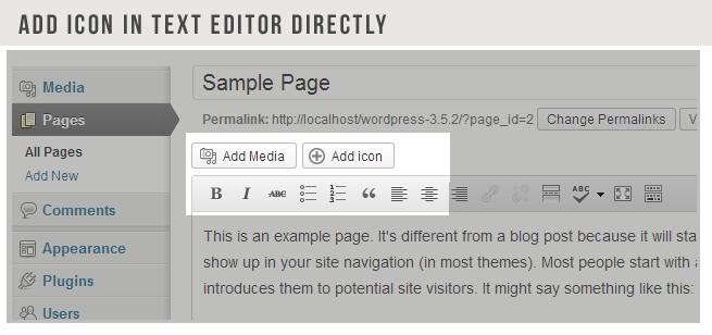 DOĞRUDAN Medya Numune Tüm Sayfalar Yeni Yorumlar Görünüm Eklentiler Kullanıcılar Permalinks Medya simgesini Bu örnek bir sayfadır ekle değiştirme ekle ICON METİN EDITOR ADD. irade sta en Çoğu kişi ile başlar sitenizin navigasyon göstermek çünkü blog yazısı farklı onları potansiyel site ziyaretçilerinin gibi bir şey diyebilirsiniz tanıttı