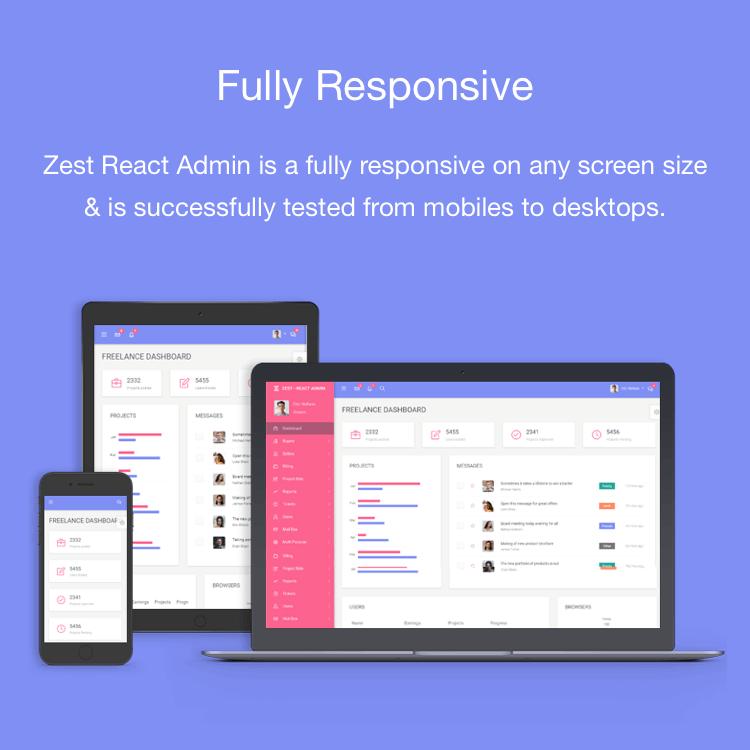 Zest: Multi-Concept React Admin Template - 2